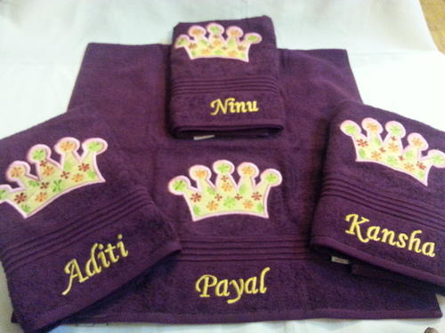 Embroidered towels princess personalized towels for return gifts princess personalized towels for return gifts negle Images