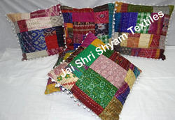 Patch Cushion Cover Kantha Stitch