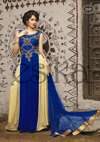 Hand Embroidered Viscose Designer Suit