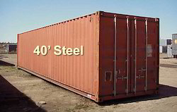 Metal 40 GP Shipping Container, Capacity: 10-20 Ton