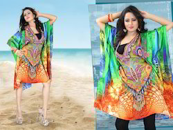 Digital Printed Short Kaftan