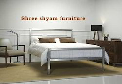 Polished Stainless Steel Bed