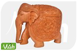 Vaah Carved Wooden Elephant