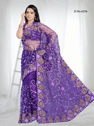 Purple Simple Fancy Designer Saree