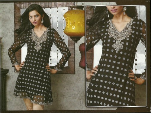 Designer Hand Embroidered Kurti