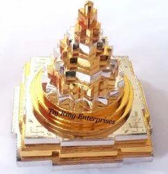 Ganga Jamuna Shree Yantra ( gold and silver police )