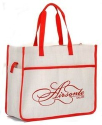 fashionable jute shopping bag