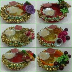 Decorated Thali For Roli Chawal