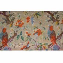 White Bird Paradise Kantha Quilt