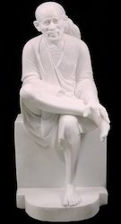 White Makrana Marble Sai Baba Statue