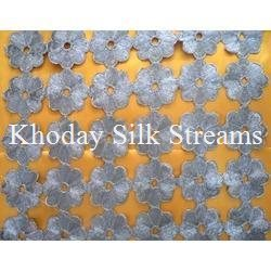 Linen Embroidery Silk Fabric