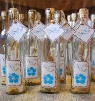 Glass Bottled Wedding Invitations
