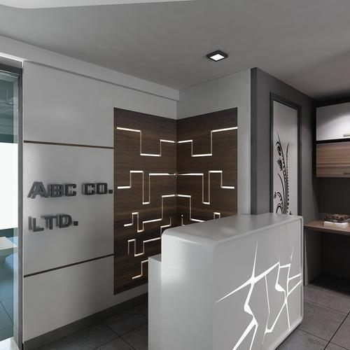 Corporate Interior designer Services - Reception Interior Designing ...