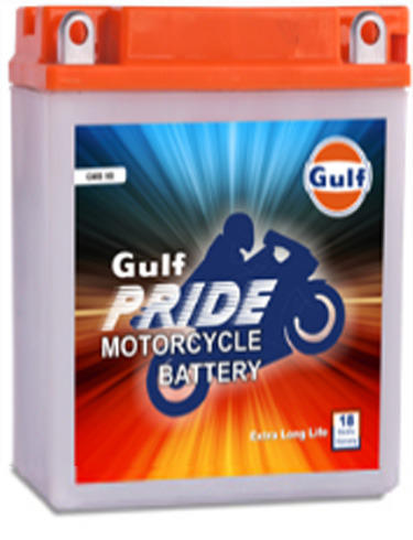Gulf Pride Motor Cycle Battery Batteries Charge Storage