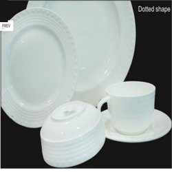dotted bone china crockery