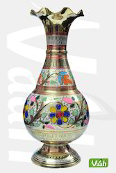 Colored Brass Vase