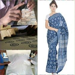daba hand block printed sarees
