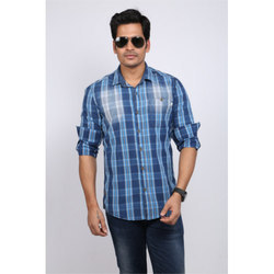 Checked Shirt With Spray Wash