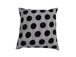 New Cotton Kantha Dot Cushion Cover