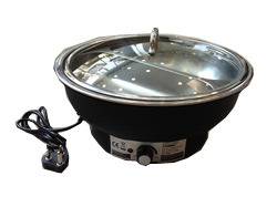 Round Glass Lid Chafer Electrical