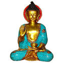 Buddha Sitting W/Out Base W/Ring & Stone