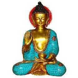 Buddha Sitting W/Out Base W/Ring & Stone
