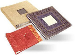 handmade paper wedding albums
