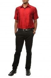 Red Richness Silk Shirts