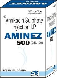 Amikacin Sulphate Injection I.P. 100 mg,250 mg,500 mg