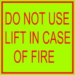 Safety Sign in Case of Fire