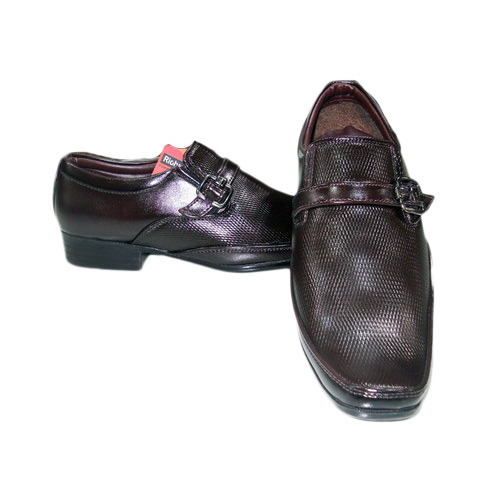Gents Brown Slip On Shoes