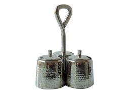 SS Hammered Pickle Stand W Covers