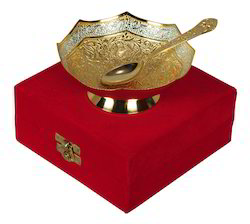 Gold Plated Brass Bowl