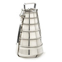 Stainless Steel Modern Pyramid Style Tiffin / Lunch Box