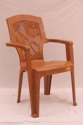 CHR 3002 Designer Flower Plastic Chair