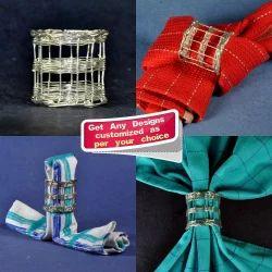 Handmade Silver Wired Brass Napkin Rings - Custom Designs