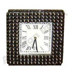 Recycled Telephone Keys Square Wall Clock