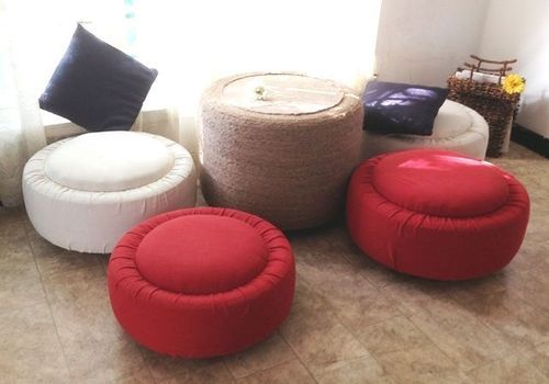 Tyre Center Table Stools Set