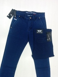 Dobby Cross Pocket Jeans (Lycra & Narrow Fit)