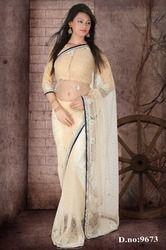 Dazzling Designer Zari Stone Heavy Saree