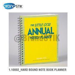 Hard Bound Note Book Planner
