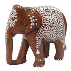 Wooden Inlay Elephant Statue
