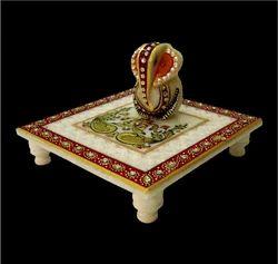 Chowki Ganesha Marble