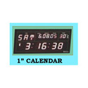 1 Inch Calendar Digital Clock