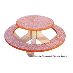 Circular Table with Circular Bench