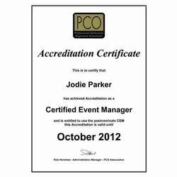 event management certificate