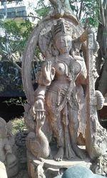 Mata Saraswati Sand Stone Statue