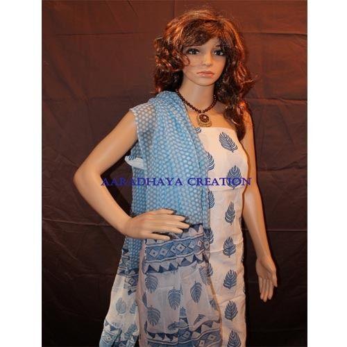 Salwar Suit with Chiffon Dupatta