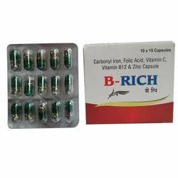 Carbonyl Iron, Folic Acid, Vitamin C, Vitamin B12 Capsule