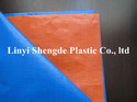 PE Tarpaulin Sheet for Cover Blue Orange